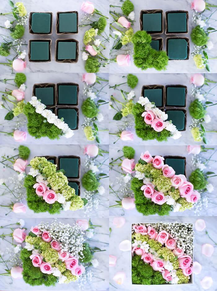Расположение параллельными рядами делает букет более строгим. Такое расположение считается модным, выглядит красиво.