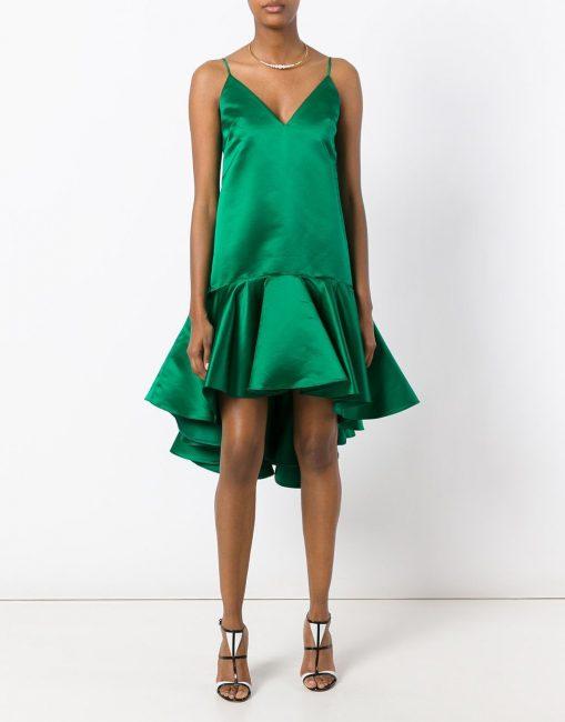 Асимметричное короткое платье