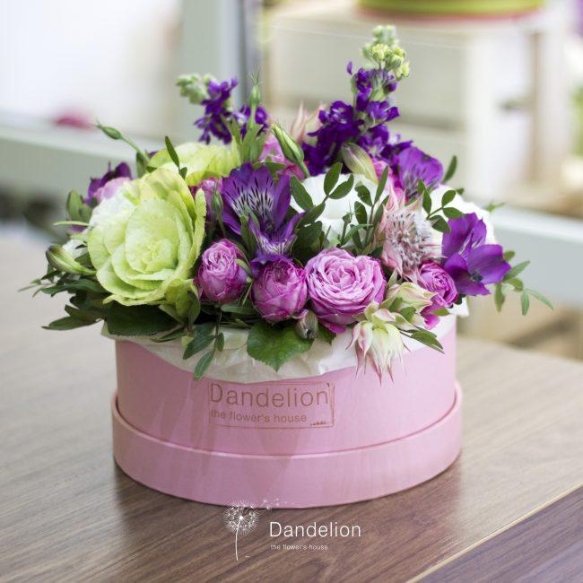 Вариант оформления цветочной композиции