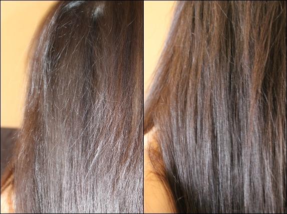Волосы до и после нанесения термо-защиты