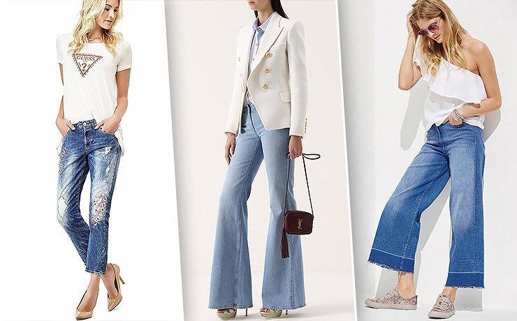 Большое количество брюк стали наиболее модными благодаря широким отворотам.