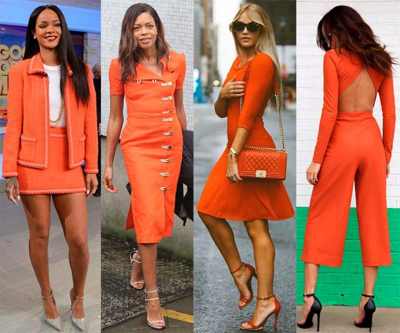 Яркий оранжевый