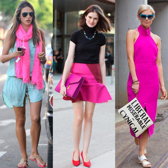 Яркие розовые акценты
