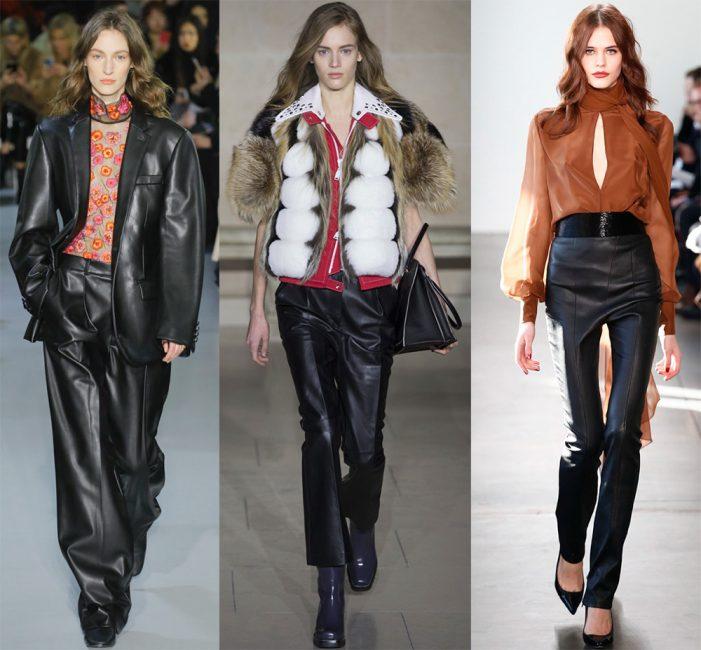 Быть стильной и смелой легко в кожаных брюках
