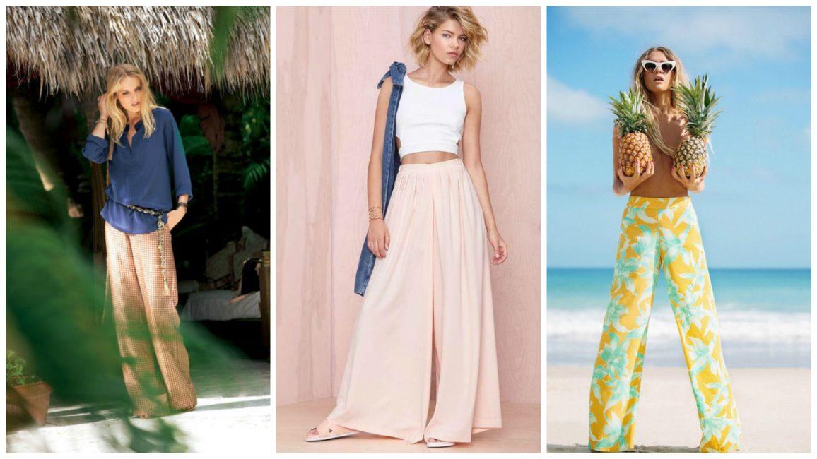 Женственный и элегантный выбор – брюки-палаццо
