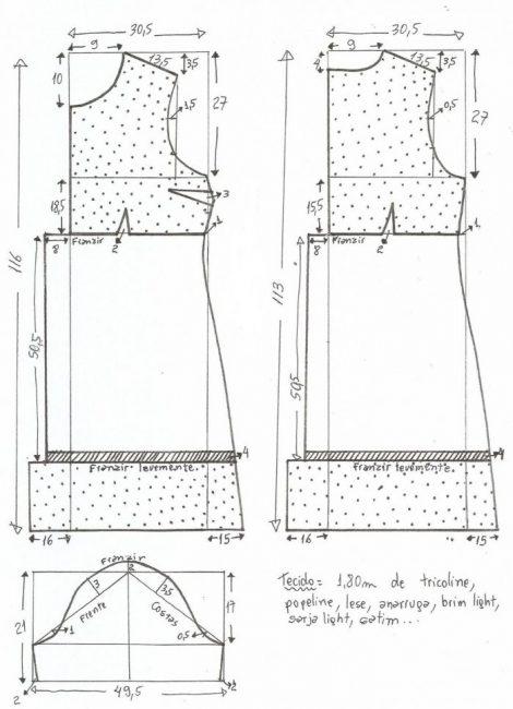 Выкройка платья бохо