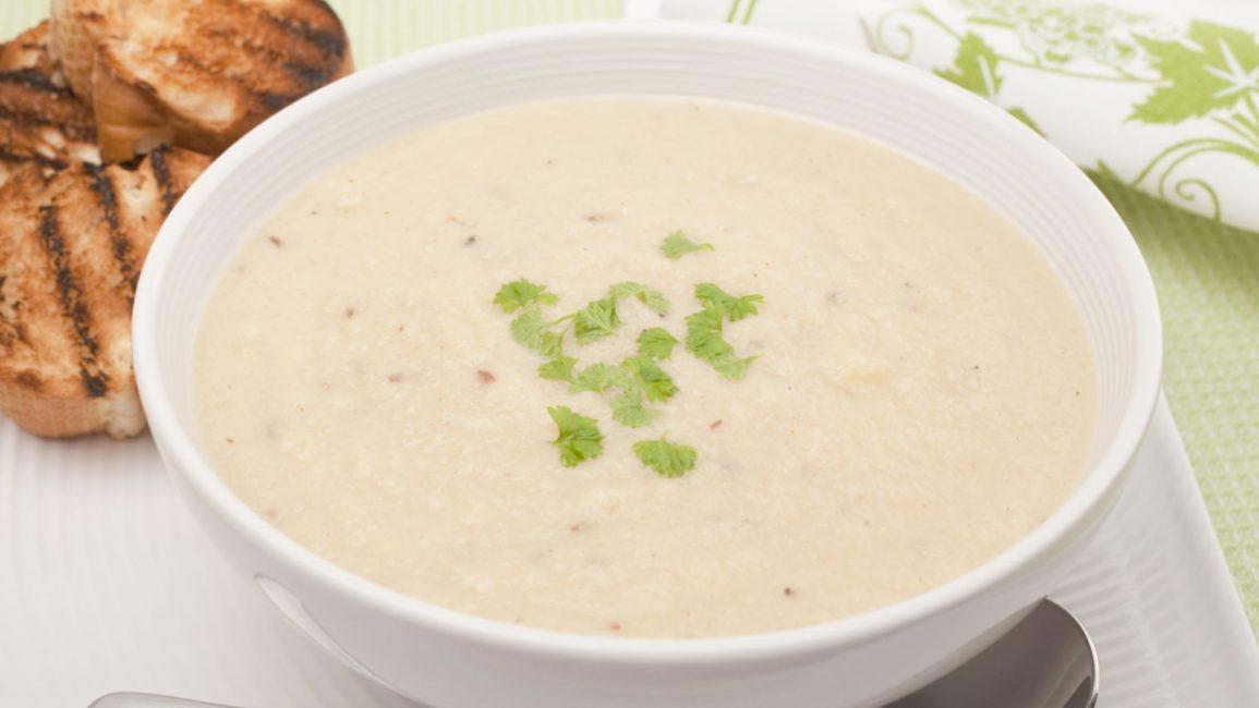 Суп-пюре из риса и цветной капусты