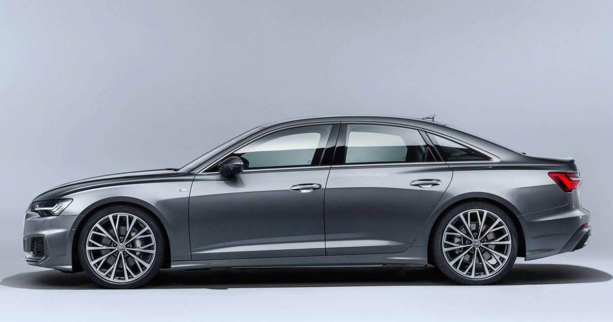 Боковая проекция новой Audi A6