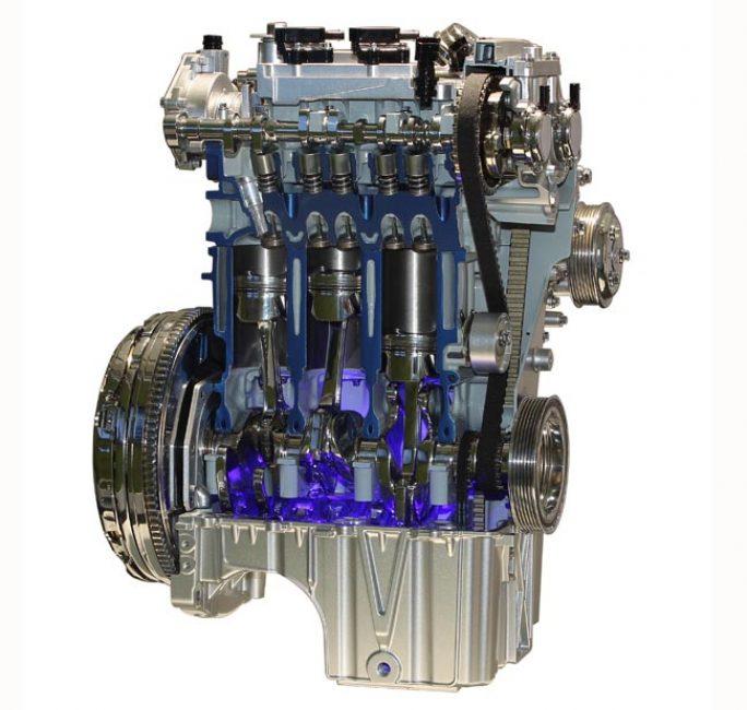 Трёхцилиндровый бензиновый двигатель EcoBoost 1.0