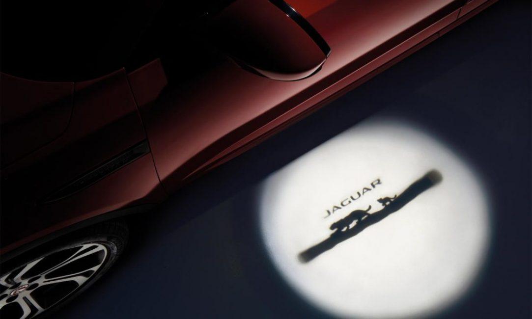 Подсветка околодверного пространства на Jaguar E Pace