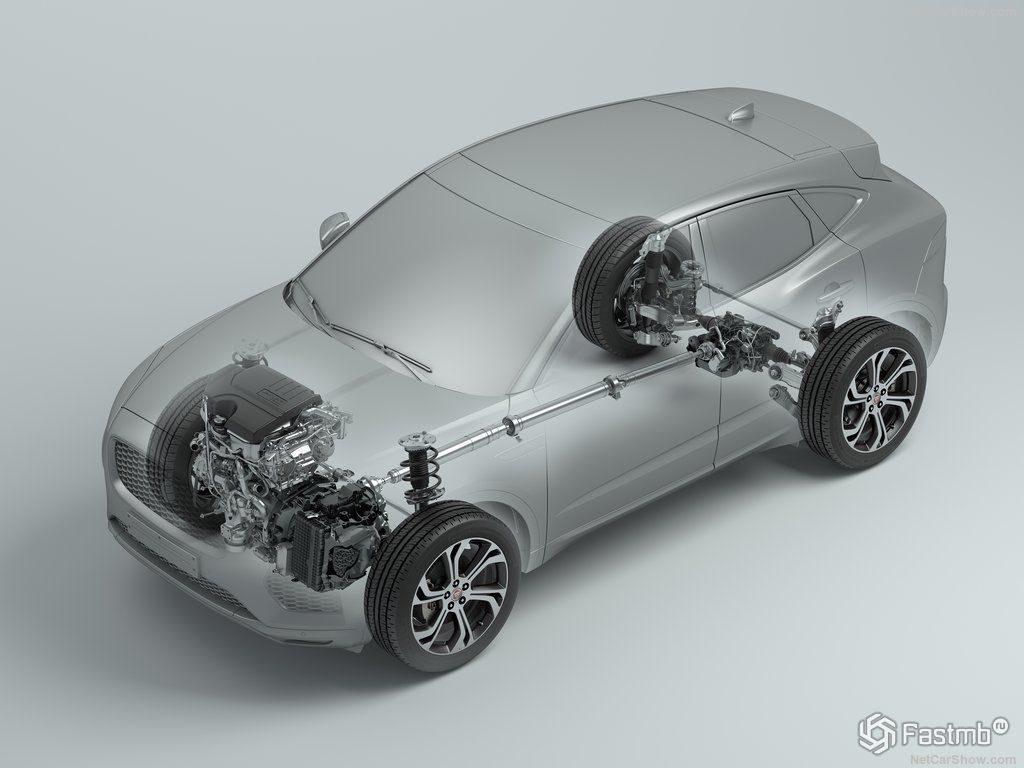 Подвеска и трансмиссия Jaguar E Pace