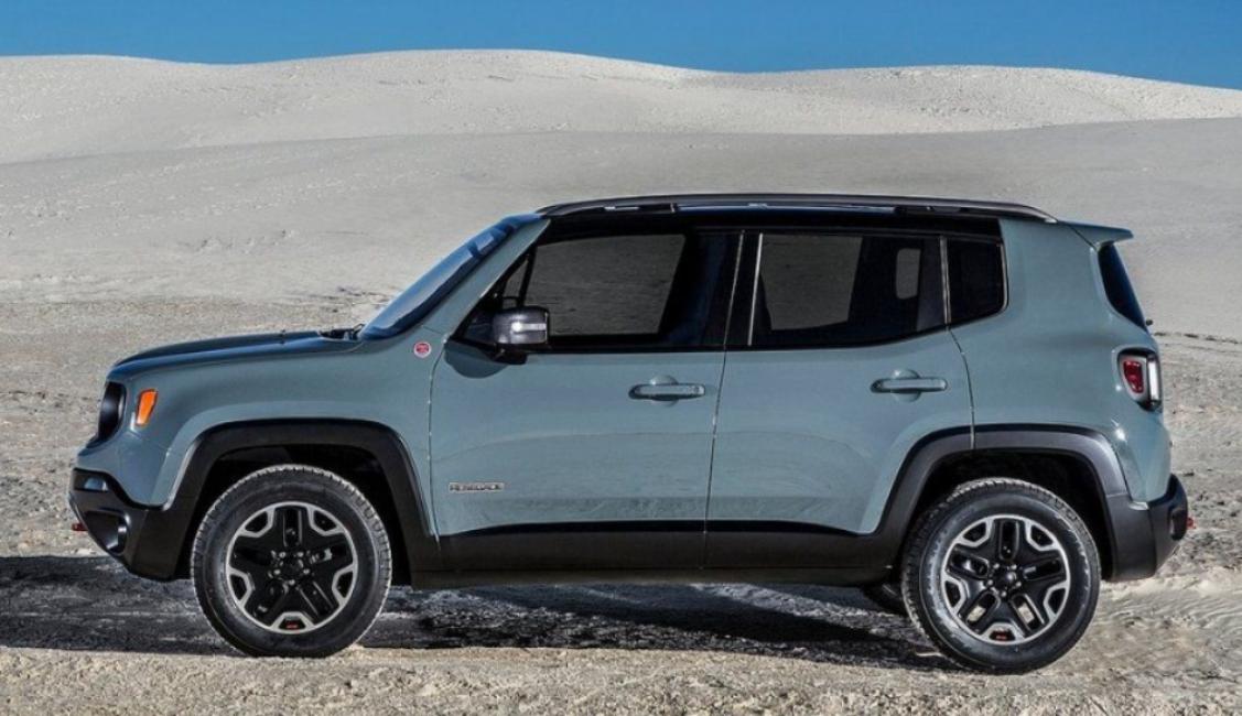 Боковая проекция Jeep Renegade предыдущей генерации