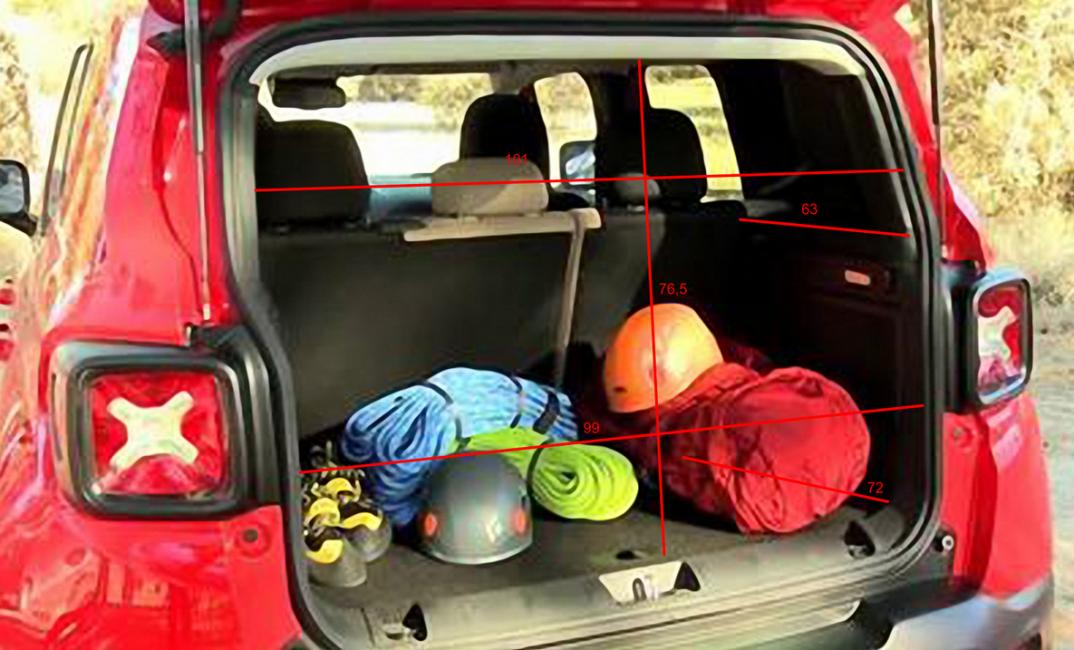 Багажное отделение Jeep Renegade