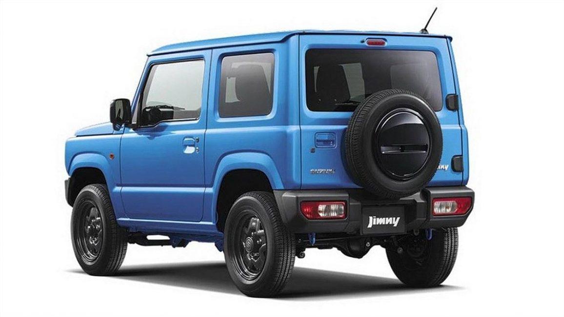 Задняя часть нового Suzuki Jimny