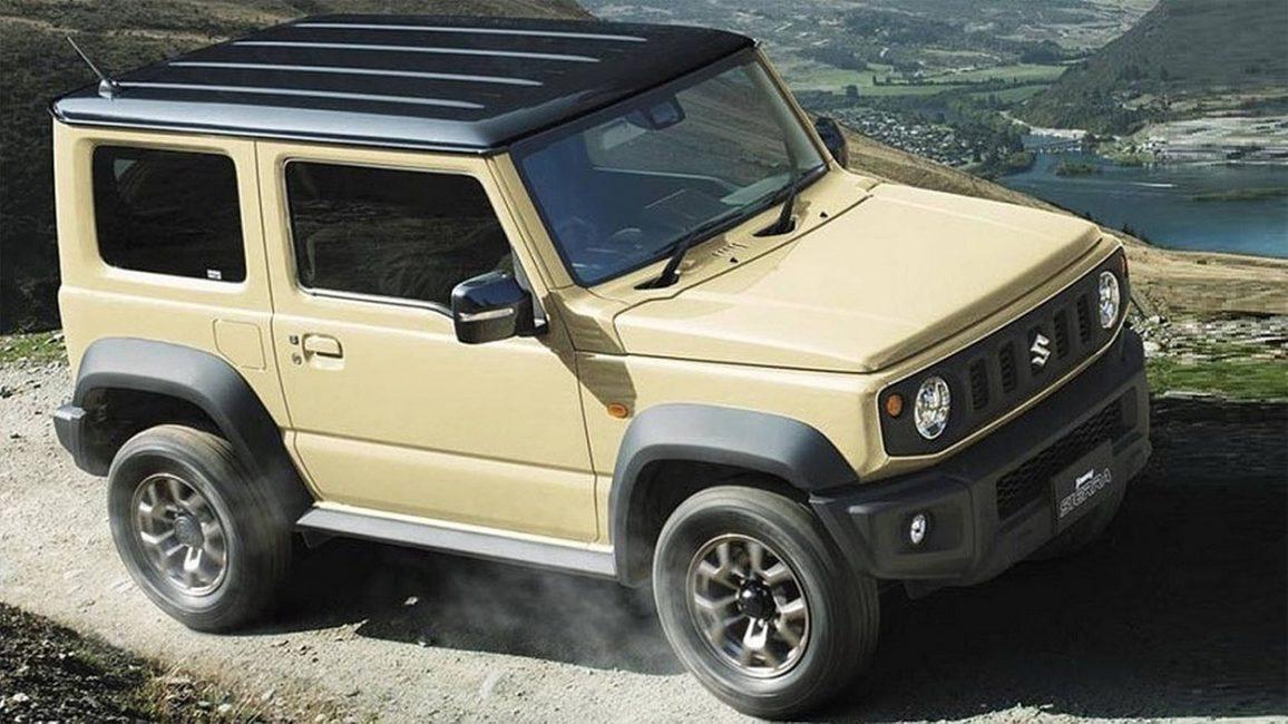Новый Suzuki Jimny вид сбоку-сверху