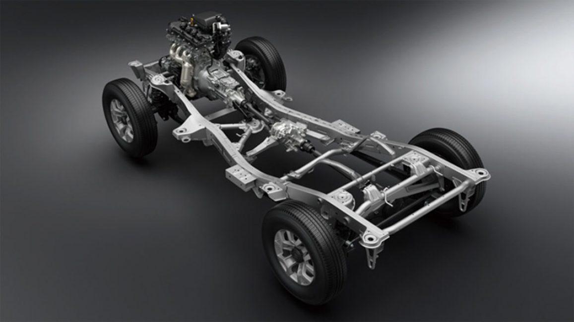 Рама с двигателем и трансмиссией Suzuki Jimny