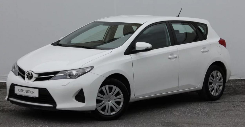 Toyota Auris 2015 года выпуска на вторичном рынке в России