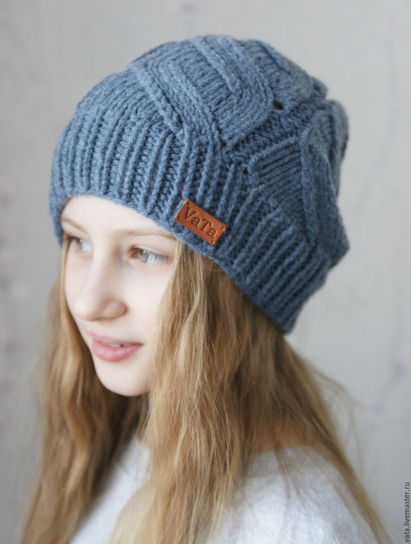 шапка спицами схема и описание шапок для женщин 90 фото