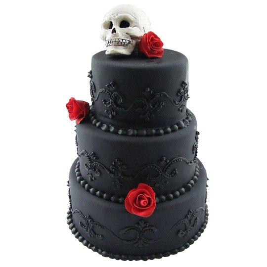 Свадебный торт черного цвета