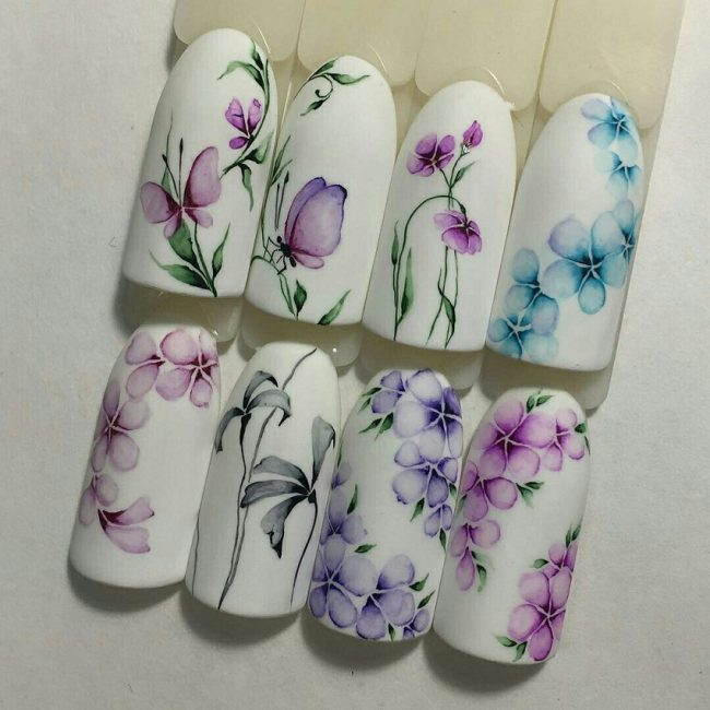 Air flowers маникюр
