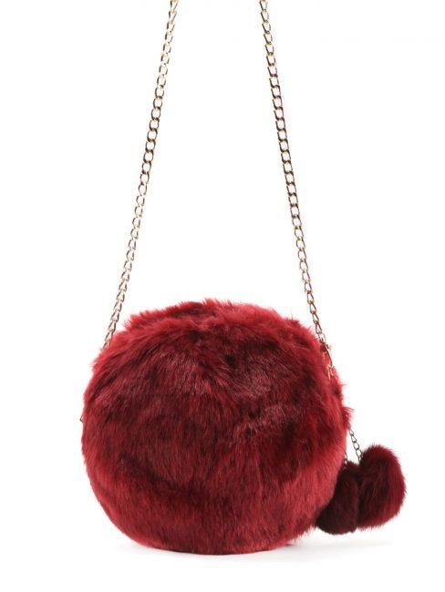 Модная сумка из крашеного искусственного меха