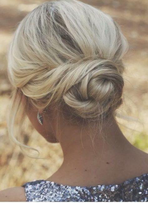 Пучок на короткие волосы