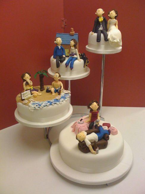 Интересная идея для свадебного торта