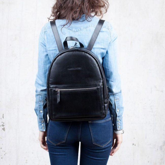 Черный кожаный рюкзак – универсальное стильное решение