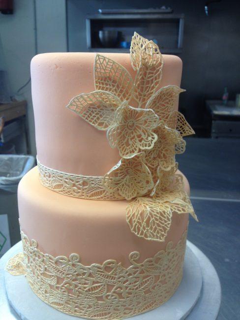 Свадебный торт с ажуром