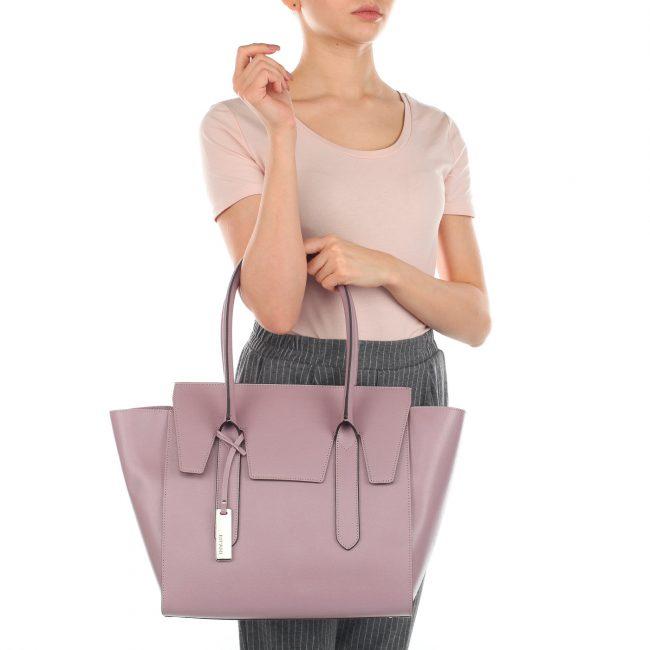 Трапециевидная сумка модного лавандового цвета