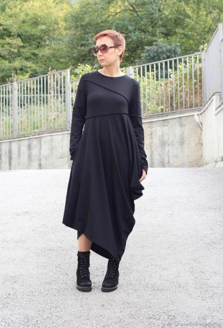 Теплый вариант черного платья