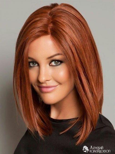 Интересный вариант колорирования для рыжих волос