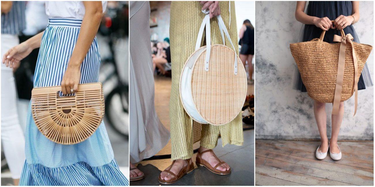 Модные варианты соломенных сумок