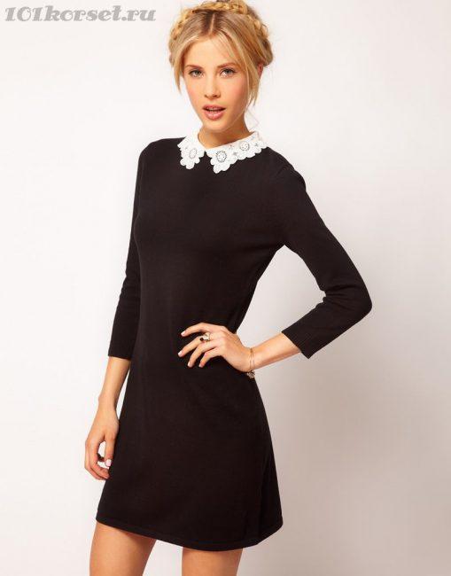 Скромное черное платье