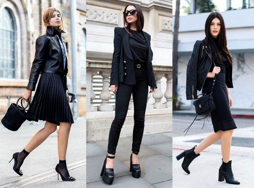3 варианта total black стиля