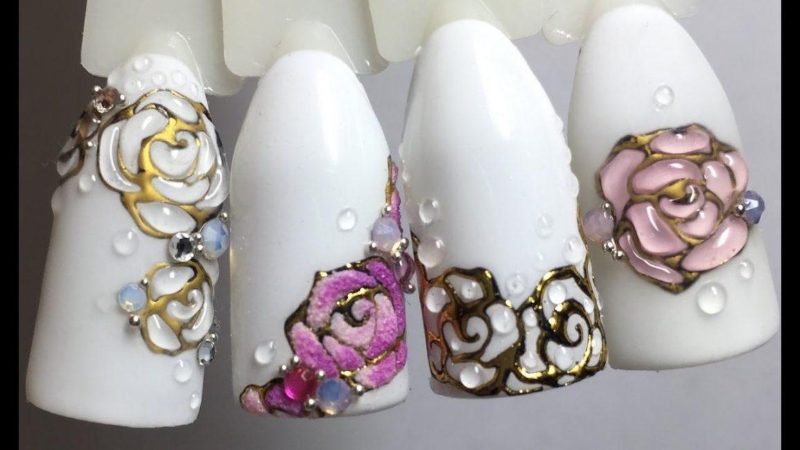 Цветочный дизайн с литьем