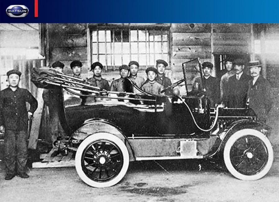 Один из первых автомобилей марки Datsun, я так понимаю, до наших дней ни одной машины не дожило