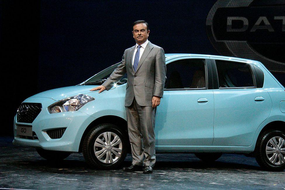 Президент Renault-Nissan Карлос Гон презентует новый бренд в Индии