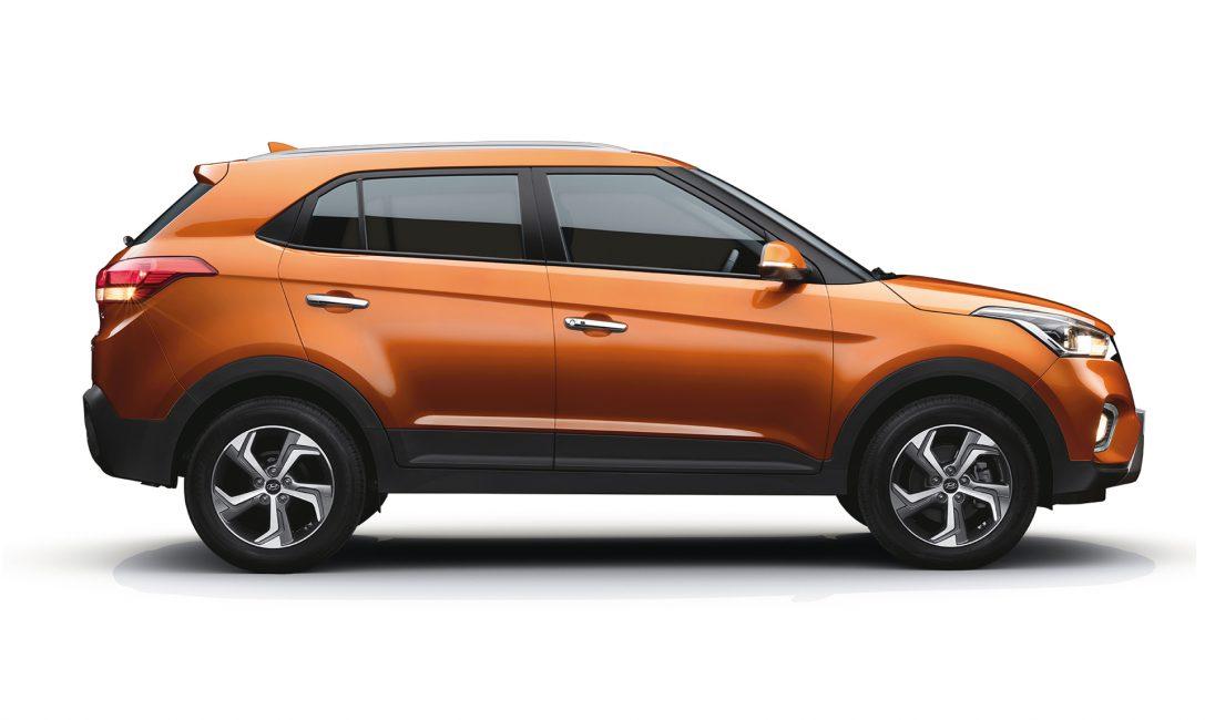Боковая проекция обновлённой Hyundai Creta