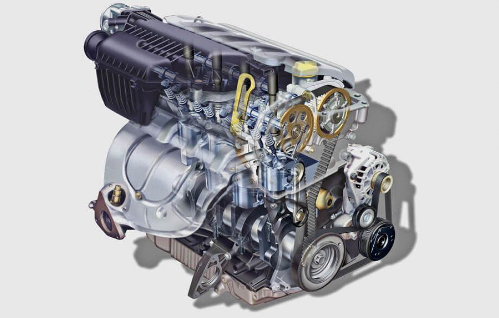 Схема двигателя объёмом 2 литра