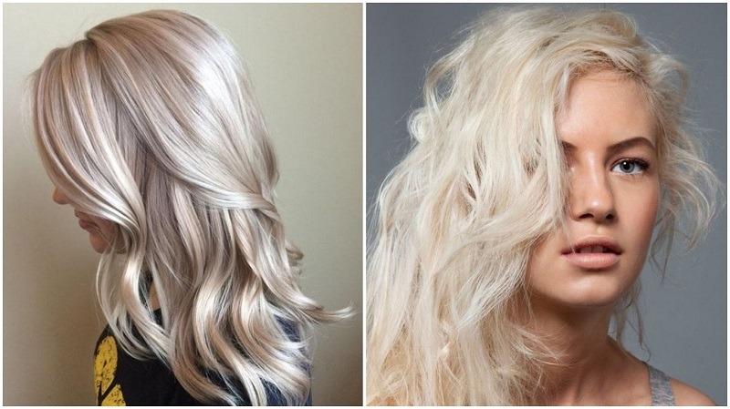 Платиновый оттенок волос