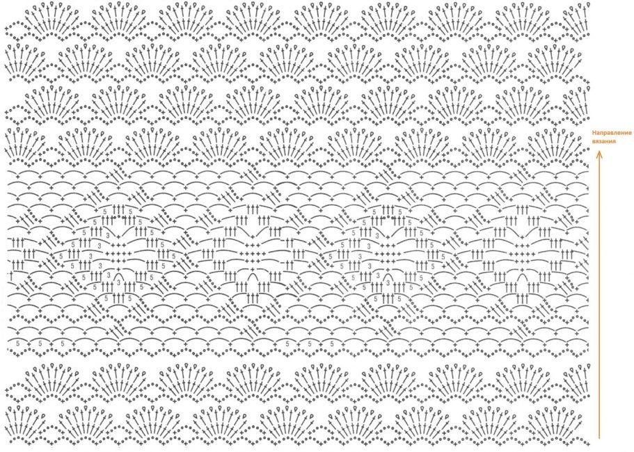 Схема вязания летнего топа