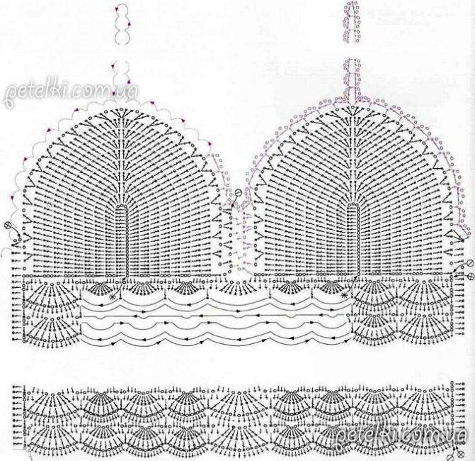 Схема вязания чашек