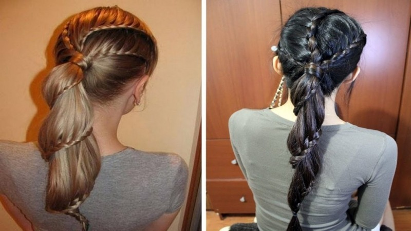 Разновидности сочетания хвоста и косы