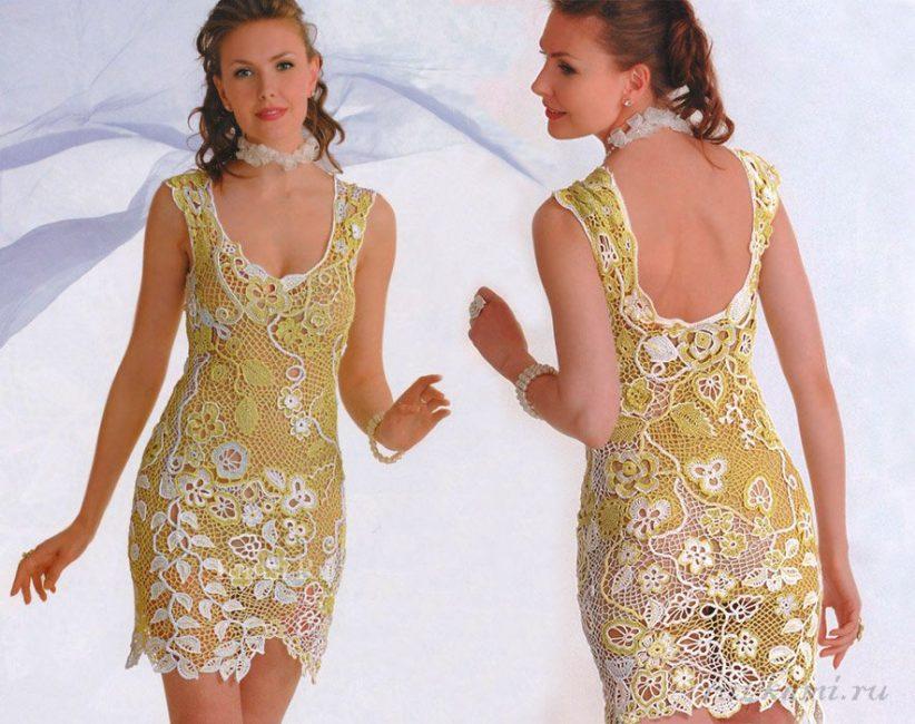 Платье крючком для лета