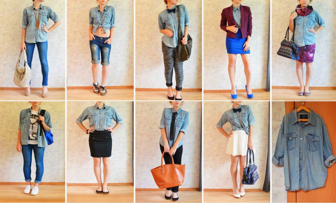 9 модных образов с джинсовой рубашкой на каждый день