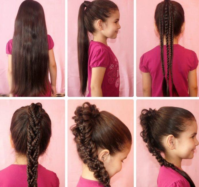 Коса их кос создает образ привлекательной леди