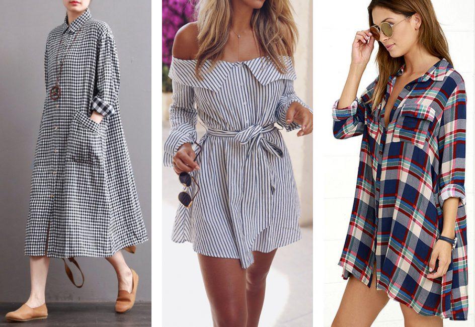 Модные платья-рубашки в 2018 г.