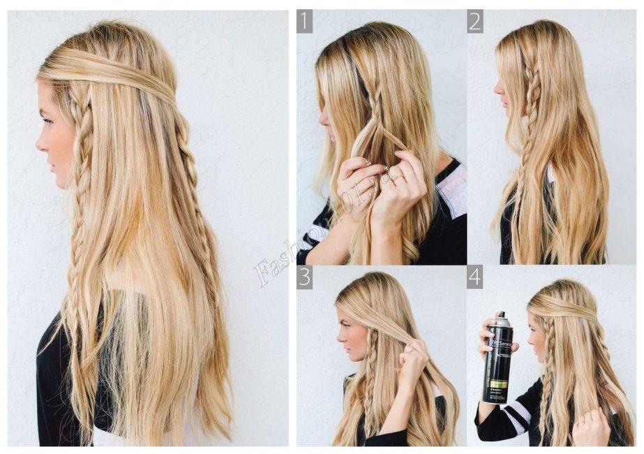 Колосок на распущенные волосы