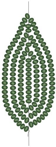 Еще одна схема для плетения листка для чашелистика